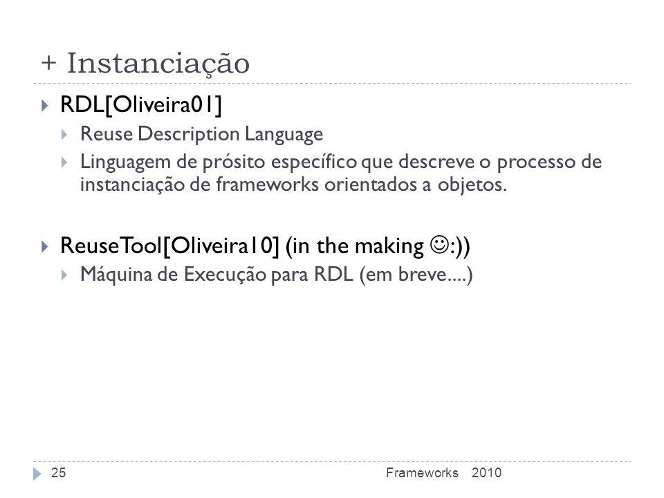 + Instanciação RDL[Oliveira01]